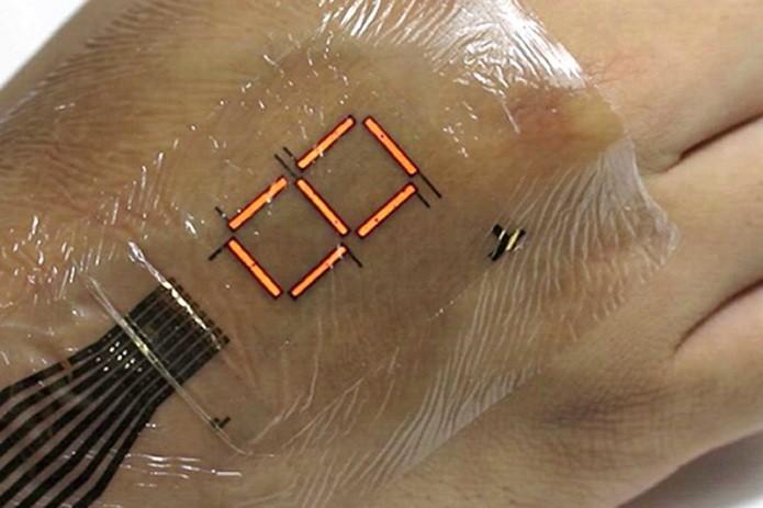 Pele digital pode ser usada para monitorar oxigênio no sangue (Foto: Divulgação/Universidade de Tóquio)