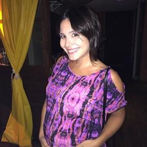 Grávida, Juliana Knust em festa de Hugo Gloss na Zona Sul do Rio (Foto: Instagram/ Reprodução)