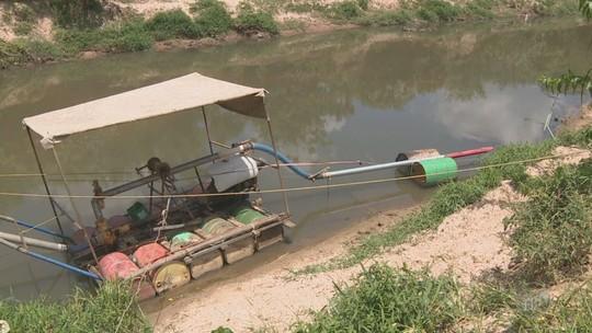 Sete pessoas são presas em ação contra extração ilegal de areia