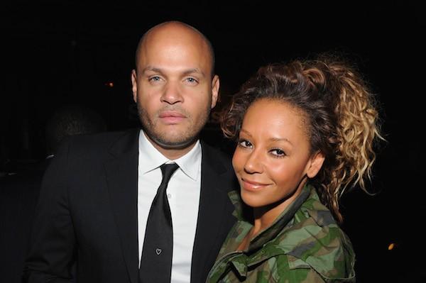 A cantora Mel B e o marido (Foto: Getty Images)