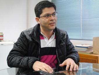 Rafael Gonçalves Mota, presidente São José Desportivo (Foto: Thiago Fadini/GloboEsporte.com)