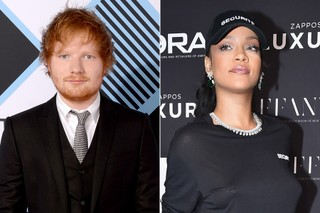 Ed Sheeran e Rihanna (Foto: Theo Wargo/ Getty Images/ AFP - Getty Images)