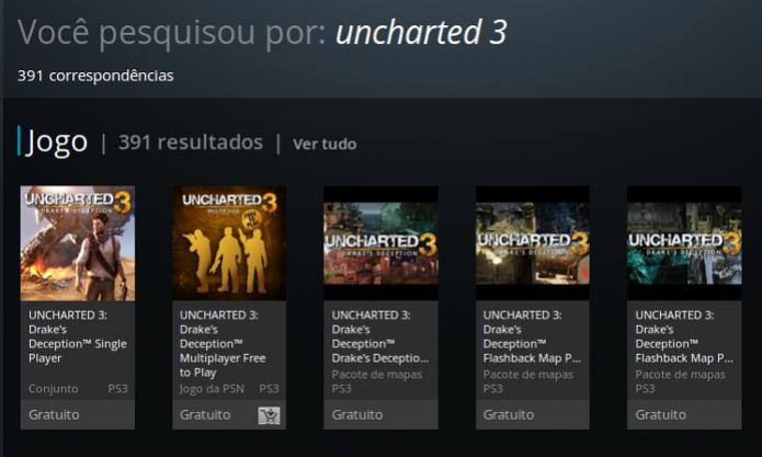 Uncharted 3 pode hoje ser encontrado de forma gratuita na PSN. (Foto: Reprodução/ Emanuel Schimidt) (Foto: Uncharted 3 pode hoje ser encontrado de forma gratuita na PSN. (Foto: Reprodução/ Emanuel Schimidt))