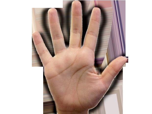 Mão direita (Foto: TV Xuxa / TV Globo)