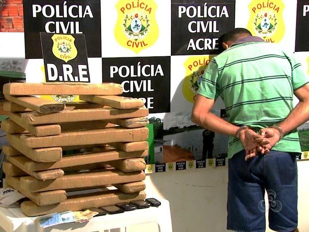 Apreensão Maconha Acre (Foto: Reprodução TV Acre)
