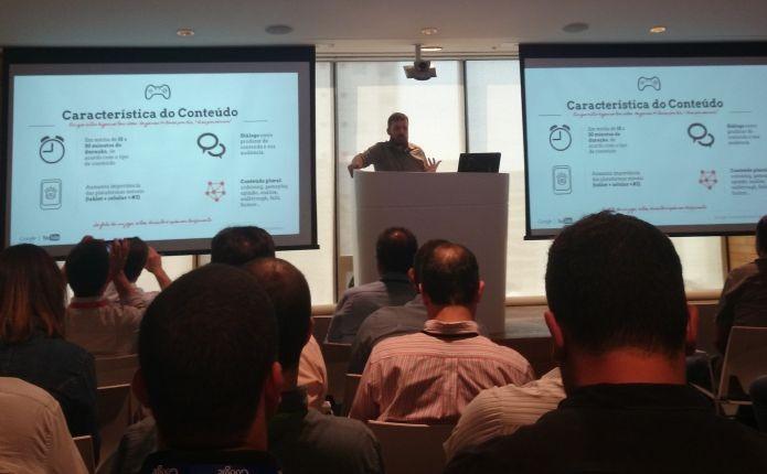 É necessário organizar conteúdo para conseguir uma parceria, ressalta Alessandro, do Google (Foto: Pedro Zambarda/TechTudo)