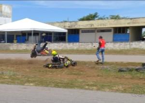 Acidente kart em Palmas  (Foto: Reprodução/TV Anhanguera)