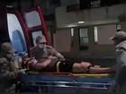 Motorista se fere ao bater em poste e em lanchonete na Praia da Costa