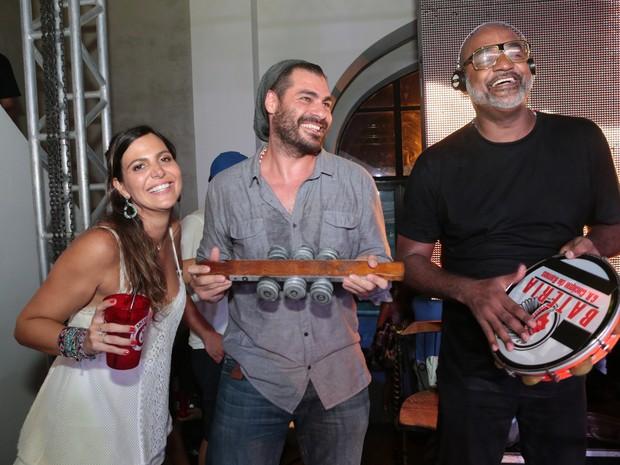 CaroL sampaio e Thiago Lacerda em festa na Zona Sul do Rio (Foto: Reginaldo Teixeira/ Divulgação)