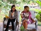 Narcisa Tamborindeguy rouba cena comendo salsichão com Zilu