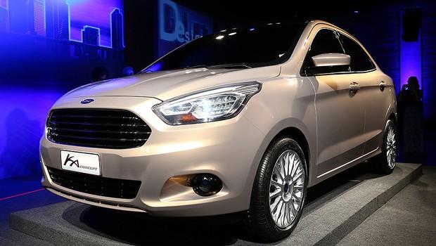 Ford Ka Sedan é revelado como conceito em São Paulo (Foto: Rafael Munhoz/Autoesporte)
