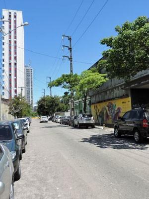 Prefeitura quer ligar a Rua da Fundição com a Avenida Norte (Foto: Marina Barbosa / G1)
