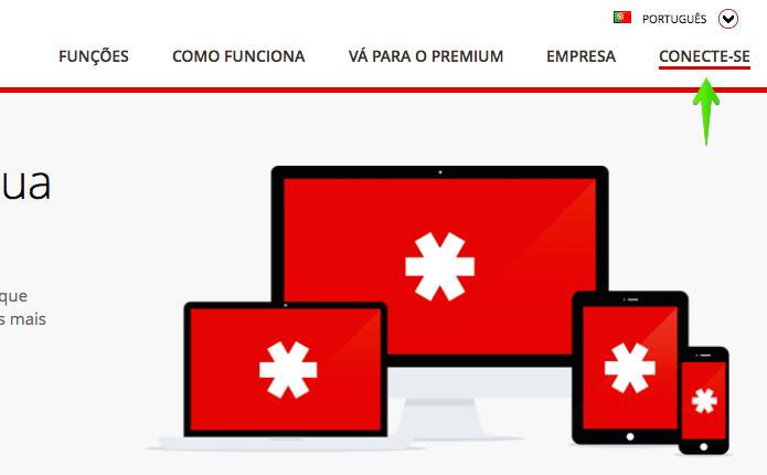Acesse o LastPass e faça login em sua conta (Foto: Reprodução/Helito Bijora)