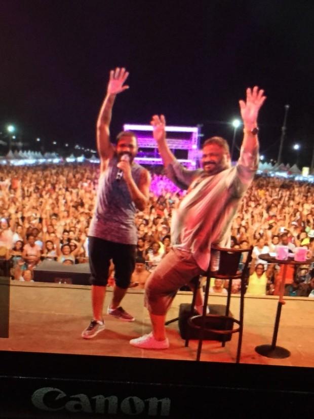 Arlindinho e Arlindo Cruz (Foto: Reprodução/Instagram)
