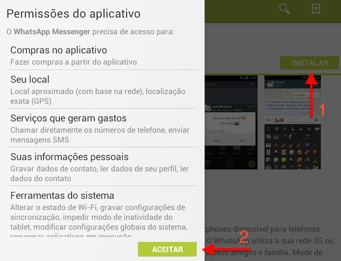 Instalando o WhatsApp no BlueStacks (Foto: Reprodução/Helito Bijora)