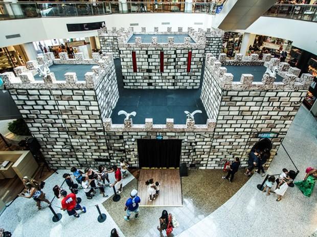 Castelo Assombrado é atração no Campinas Shopping (Foto: Jairo Kelner)