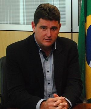Arlei Rosa, prefeito de Teresópolis, e José Maria Marin, presidente da CBF (Foto: Divulgação)