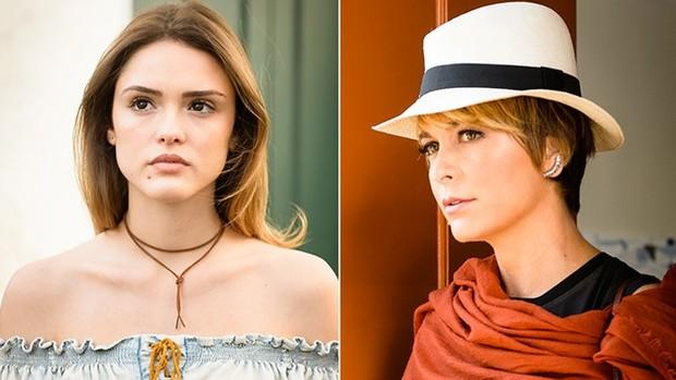 A Lei do Amor: Cláudia celebra parceria com Isabelle (TV Globo)