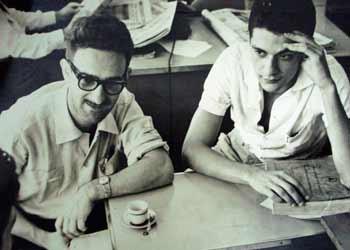 José Renato e Vianinha no Teatro de Arena, no final dos anos 50 (Foto: Divulgação)