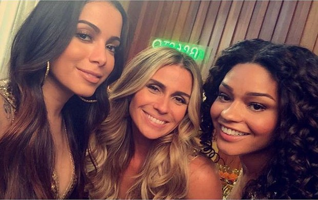 Anitta, Giovanna Antonelli e Juliana Alves (Foto: Reprodução/ Instagram)