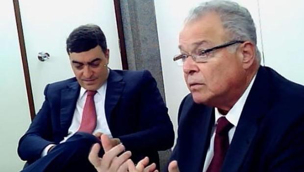 O empresário Emílio Odebrecht em depoimento  (Foto: Reprodução/YouTube)