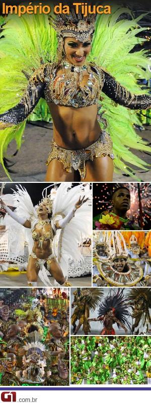 Império da Tijuca abriu Grupo Especial do carnaval do Rio (Foto: G1)