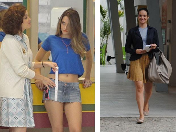 Fatinha e Maria de Fátima são completamente diferentes: uma é recatada e a outra é periguete (Foto: Malhação / Tv Globo)