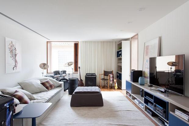 Decoracao Na Sala De Tv ~ Acerte na decoração da sala de TV  Casa Vogue  Ambientes