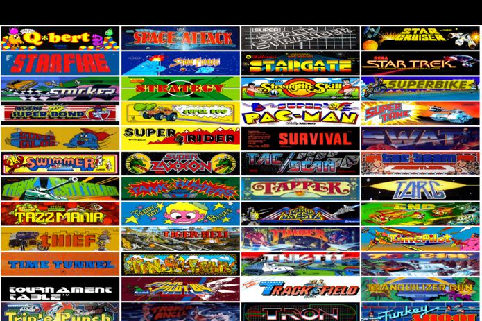 Internet Arcade disponibilizou mais de 900 jogos de arcade lançados entre 1970 e 1990. (Foto: Reprodução/TheVerge)