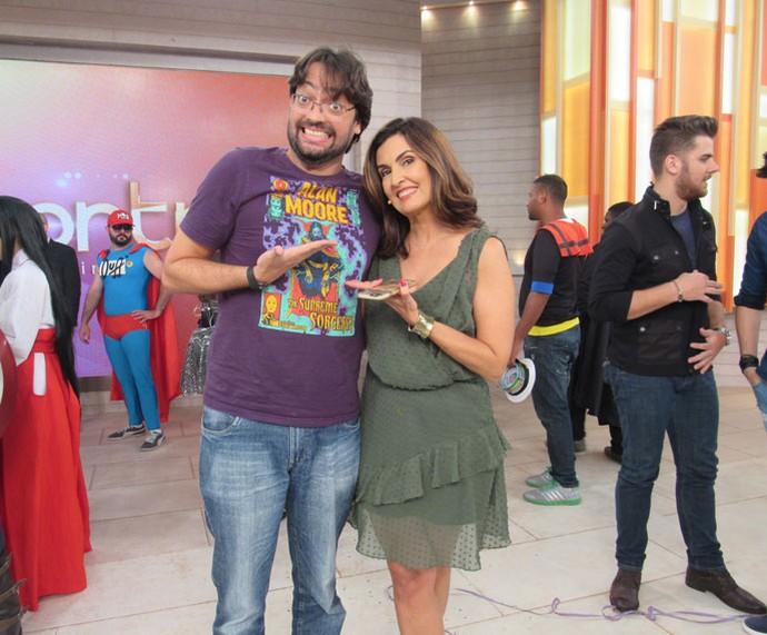 Fátima com o ator Fernando Caruso (Foto: Monique Arruda/Gshow)