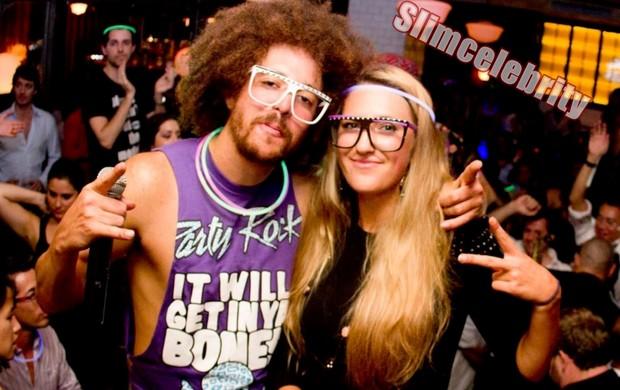 Rapper Stefan 'Redfoo' Gordy  e sua namorada a tenista Victoria azarenka australian open (Foto: Reprodução / Slimcelebrity)