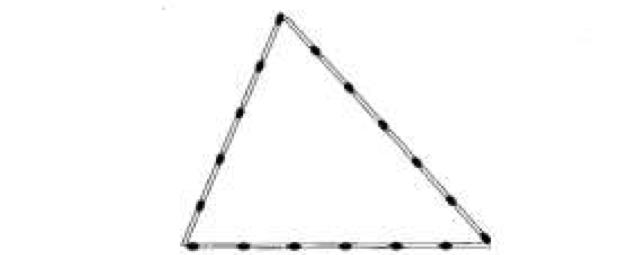 Triângulo de palitos de fósforo (Foto: Reprodução/ENEM)