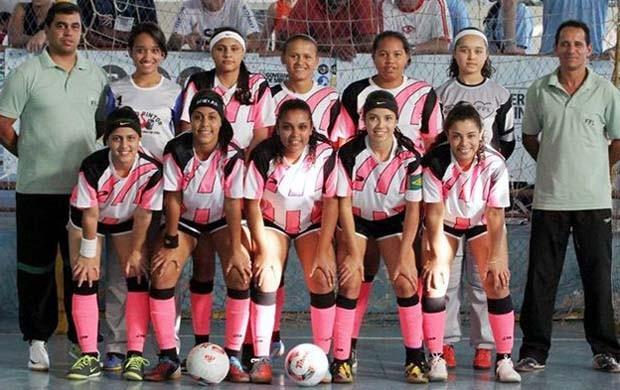 Equipe de futsal feminana Luz (Foto: Tiago Ciccarini / Divulgação)