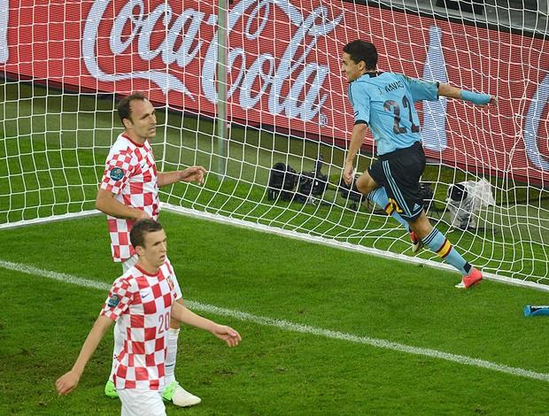 Croácia x Espanha, Jesus Navas (Foto: Agência AFP)