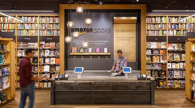 Livraria da Amazon em Seattle: empresa lançou unidade em Nova York (Foto: Divulgação)