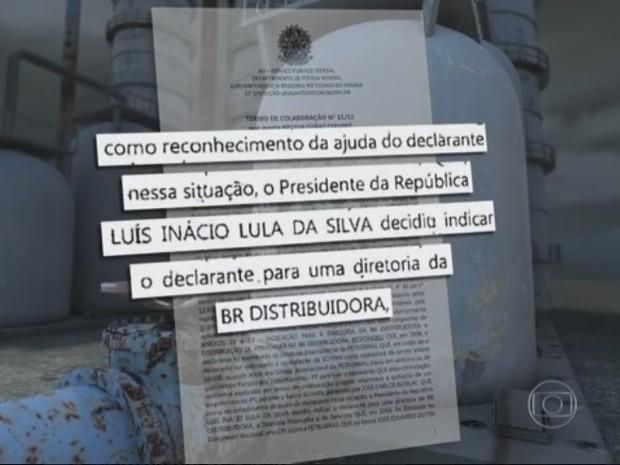 Cerveró disse que Lula lhe deu cargo por gratidão (Foto: Reprodução/TV Globo)