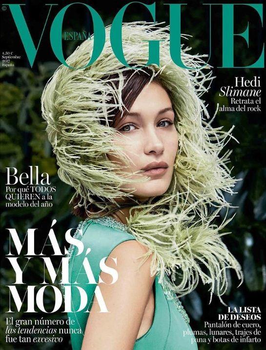 Capa Vogue Espanha com Bella Hadid (Foto: Patrick Demarchelier)
