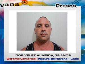 Igor Veliz Almeida, suspeito preso (Foto: Divulgação/Degepol)