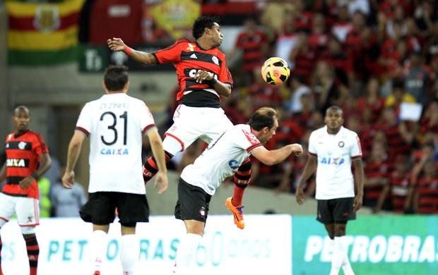 Luiz Antonio e Paulo Baier Flamengo x Atlético-PR final Copa do Brasil (Foto: André Durão / Globoesporte.com)