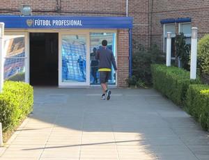 Treino do Boca Juniors fechado (Foto: Alexandre Lozetti /Globoesporte.com)