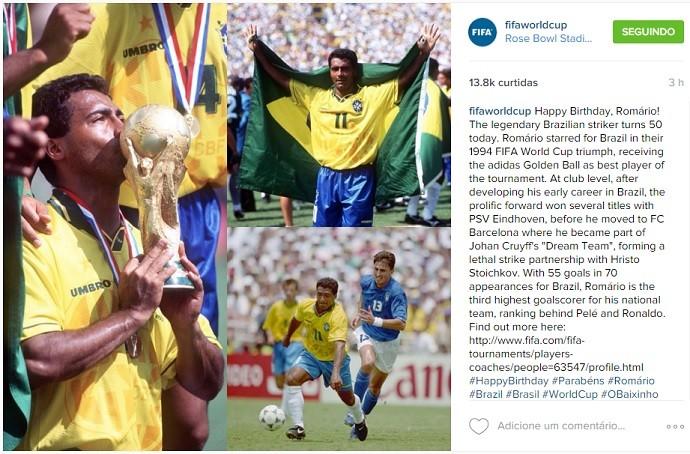Homenagem Fifa a Romário 50 anos