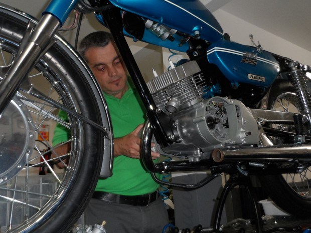 Gallery 275, museu de motocicletas em Petrópolis (Foto: Fernanda Soares/G1)