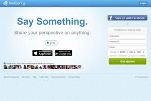 Página inicial do Formspring. Serviço sai do ar em 31 de março. (Foto: Reprodução)
