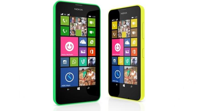 Lumia 630 é um aparelho com Windows Phone 8.1, quad-core e opção dual-chip (Foto: Divulgação/Nokia)