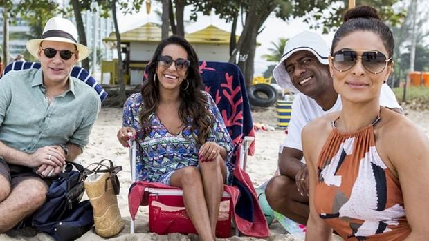 Totalmente Demais: elenco grava cenas finais na praia (divulgação)