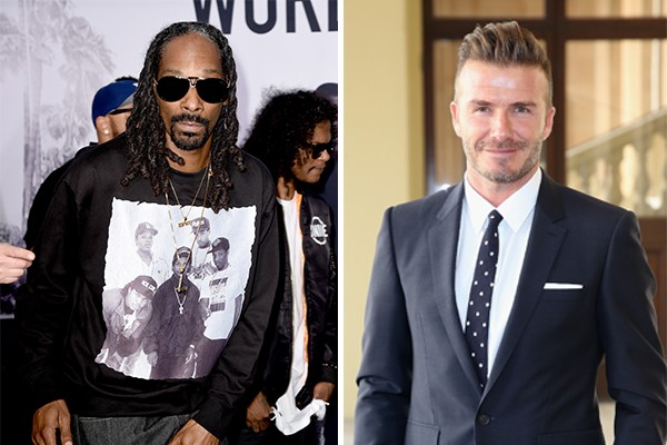 Snoop Dogg e David Beckham (Foto: Getty Images)