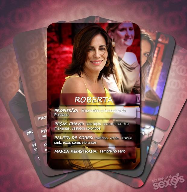 Cores vibrantes e saltos altíssimos são amrcas de Roberta (Foto: Guerra dos Sexos / TV Globo)