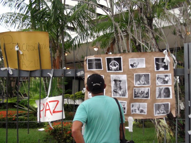 Augusto Omolú, dançarino da Bahia, é velado no Teatro Castro Alves, em Salvador (Foto: Ida Sandes/G1 BA)