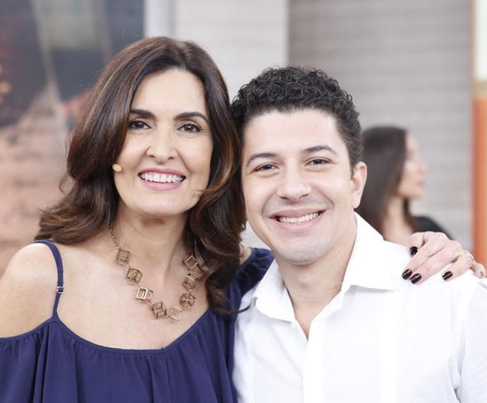 O ator Paulo Mathias Jr. marcou presença no programa  (Foto: Ellen Soares/Gshow)