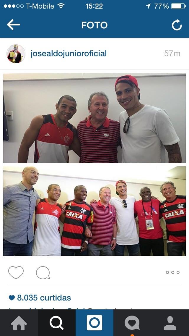 José Aldo ZIco e Paulo Guerrero instagram